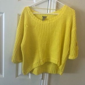 (Brand New) Yellow Crop Top